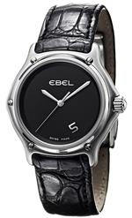 エベル 時計 Ebel 1911 Stainless Steel Mens Strap Watch Black Dial Quartz 9187241/55535136