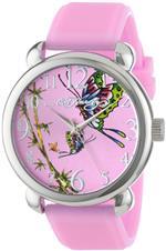 エドハーディー 時計 Ed Hardy Womens FO-PK Fountain Pink Quartz Analog Watch