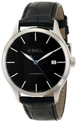 エベル 時計 EBEL Mens 1216089 Ebel 100 Analog Display Swiss Automatic Black Watch