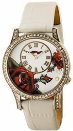 エドハーディー 時計 Ed Hardy Womens AN-WH Antoinette White Stainless Steel 316L Watch