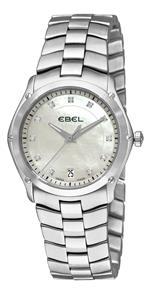 エベル 時計 Ebel Womens 9954Q31/99450 Classic Sport Mother-Of-Pearl Diamond Dial Watch