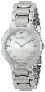 エベル 時計 EBEL Womens 1216038 Beluga Analog Display Swiss Quartz Silver Watch