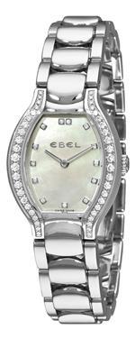 エベル 時計 Ebel Womens 9956P28/991050 Beluga Tonneau Mother-Of-Pearl Dial Diamond Watch