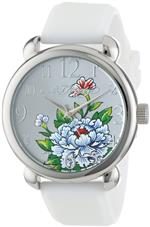 エドハーディー 時計 Ed Hardy Womens FO-WH Fountain White Quartz Analog Watch<img class='new_mark_img2' src='https://img.shop-pro.jp/img/new/icons20.gif' style='border:none;display:inline;margin:0px;padding:0px;width:auto;' />
