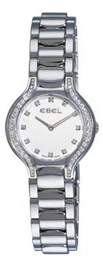 エベル 時計 Ebel Womens 9003N18/691050 Beluga Silver Diamond Dial Watch