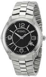 エベル 時計 EBEL Mens 1216176 Sport Analog Display Swiss Quartz Silver Watch