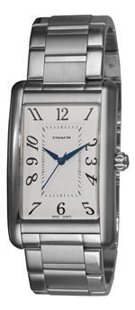 コーチ 時計 Coach Mens 14600964 Lexington White guilloche Dial Watch