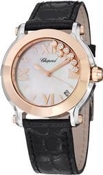 <img class='new_mark_img1' src='https://img.shop-pro.jp/img/new/icons20.gif' style='border:none;display:inline;margin:0px;padding:0px;width:auto;' />ショパール 時計 Chopard Happy Sport Ladies Rose Gold Diamond Watch 278492-9004 LBK