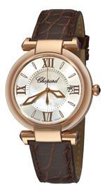 ショパール 時計 Chopard Womens 384221-5001 Imperiale Mother-Of-Pearl Rose Gold Watch