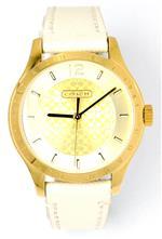 コーチ 時計 Coach Stainless Steel Gold Plated Beige Leather Strap Womens Watch 14501799<img class='new_mark_img2' src='https://img.shop-pro.jp/img/new/icons2.gif' style='border:none;display:inline;margin:0px;padding:0px;width:auto;' />