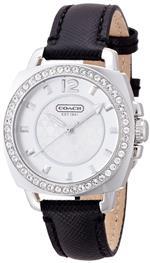 コーチ 時計 COACH Boyfriend Crystal Bezel Leather Strap Watch 35mm