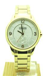 コーチ 時計 Coach Womens Gold Tone Classic C Logo Round Watch 14501612