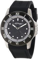 エドハーディー 時計 Ed Hardy Mens RM-BK Roman Black Watch