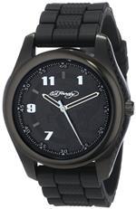 エドハーディー 時計 Ed Hardy Mens RV-BK Raven Black Quartz Analog Watch