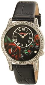 エドハーディー 時計 Ed Hardy Womens AN-BL Antoinette Black Stainless Steel 316L Watch<img class='new_mark_img2' src='https://img.shop-pro.jp/img/new/icons34.gif' style='border:none;display:inline;margin:0px;padding:0px;width:auto;' />