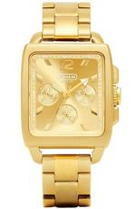 コーチ 時計 Coach Watch Chronograph Gold Square