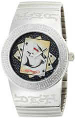 エドハーディー 時計 Ed Hardy Mens CS-SS Card Shark Stainless Steel Watch