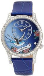 エドハーディー 時計 Ed Hardy Womens EL-BL Elizabeth Blue Watch