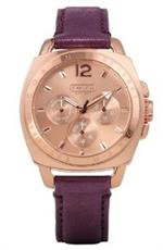 コーチ 時計 Coach Boyfriend Purple Sparkle Strap Watch 14501709