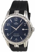 エドックス 時計 Edox Grand Ocean Automatic Chronometer Stainless Steel Mens Watch Blue Dial