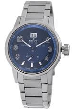 エドックス 時計 Edox Mens 64009 3 BUIN WRC Rally Timer Blue Dial Watch