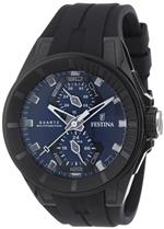フェスティナ 時計 Festina Mens Quartz Watch with Blue Dial Analogue Display and Black Rubber Strap<img class='new_mark_img2' src='https://img.shop-pro.jp/img/new/icons10.gif' style='border:none;display:inline;margin:0px;padding:0px;width:auto;' />