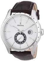フェスティナ 時計 Festina Mens Sport F16486/5 Brown Leather Analog Quartz Watch with Silver Dial