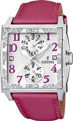 フェスティナ 時計 Festina Womens Dream F16570/3 Pink Leather Quartz Watch with Silver Dial<img class='new_mark_img2' src='https://img.shop-pro.jp/img/new/icons5.gif' style='border:none;display:inline;margin:0px;padding:0px;width:auto;' />