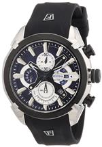 フェスティナ 時計 Festina Mens Quartz Watch with Blue Dial Chronograph Display and Black Rubber