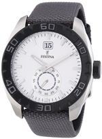 フェスティナ 時計 Festina F16674-1 44mm Stainless Steel Case Grey Nylon Mineral Mens Watch