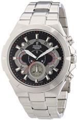 フェスティナ 時計 Festina Mens Quartz Watch with Black Dial Chronograph Display and Silver Stainless