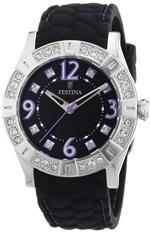 フェスティナ 時計 Festina Womens F16541/8 Black Polyurethane Quartz Watch with Black Dial