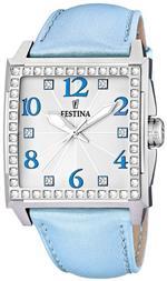 フェスティナ 時計 Festina Womens Dream F16571/3 Blue Leather Quartz Watch with Silver Dial