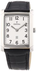 フェスティナ 時計 Festina F16512-1 Mens Black Leather Strap Watch