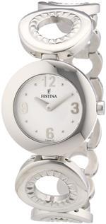 フェスティナ 時計 Festina Womens F16546/1 Silver Stainless-Steel Quartz Watch with Silver Dial