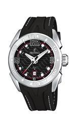 フェスティナ 時計 Festina Mens Quartz Watch with Black Dial Analogue Display and Black Rubber Strap<img class='new_mark_img2' src='https://img.shop-pro.jp/img/new/icons2.gif' style='border:none;display:inline;margin:0px;padding:0px;width:auto;' />