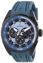 フェスティナ 時計 Festina Mens F16610/3 Blue Rubber Quartz Watch with Blue Dial