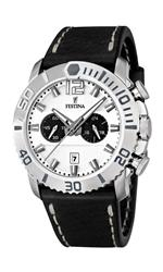 フェスティナ 時計 Festina Mens Quartz Watch with White Dial Chronograph Display and Black Leather<img class='new_mark_img2' src='https://img.shop-pro.jp/img/new/icons9.gif' style='border:none;display:inline;margin:0px;padding:0px;width:auto;' />