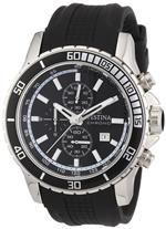 フェスティナ 時計 Festina Mens Stainless Steel Rubber Strap Black Dial Chronograph Watch F165611