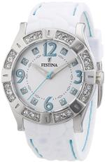 フェスティナ 時計 Festina Womens Stainless Steel Analogue Rubber Strap Silver Dial Watch F16541/2