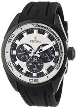 フェスティナ 時計 Festina Mens Quartz Watch with Beige Dial Analogue Display and Black Rubber Strap<img class='new_mark_img2' src='https://img.shop-pro.jp/img/new/icons6.gif' style='border:none;display:inline;margin:0px;padding:0px;width:auto;' />