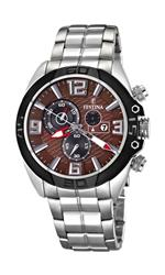 フェスティナ 時計 Festina Mens Quartz Watch with Brown Dial Chronograph Display and Silver Stainless<img class='new_mark_img2' src='https://img.shop-pro.jp/img/new/icons35.gif' style='border:none;display:inline;margin:0px;padding:0px;width:auto;' />