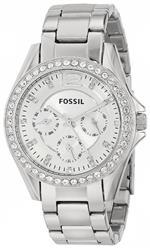 フォッシル 時計 Fossil Womens ES3202 Riley Multifunction Stainless Steel Watch