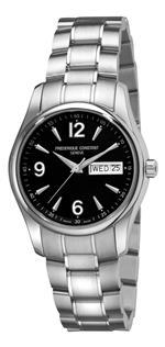 フレデリックコンスタント 時計 Frederique Constant Mens FC-242B4B26B Junior Black Day Date Dial Watch
