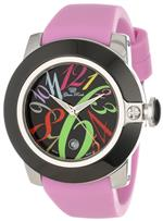 グラムロック 時計 Glam Rock Womens GR32039-DEBZ Sobe-Mood Black Dial Pink Silicone Watch