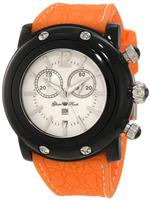 グラムロック 時計 Glam Rock Womens GD1111-DBC Miami Beach Chronograph White Dial Orange Silicone