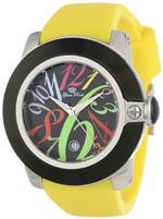 グラムロック 時計 Glam Rock Womens GR32036-DEBZ Sobe-Mood Black Dial Yellow Silicone Watch