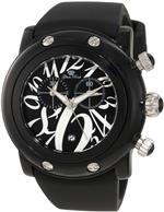 グラムロック 時計 Glam Rock Womens GK1143 Miami Beach Chronograph Black Dial Watch
