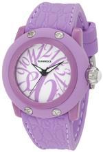 グラムロック 時計 Glam Rock Womens GR24003 Miss Miami Beach White Dial Lilac Silicone Watch