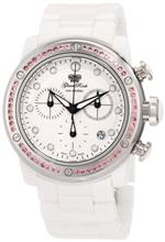 グラムロック 時計 Glam Rock Womens GR50126 Aqua Rock Chronograph White Dial Ceramic Watch
